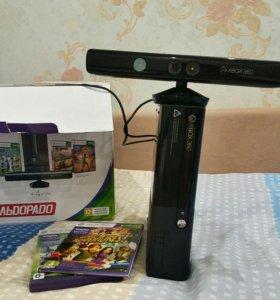 Xbox360+kinect 250гб 8500р
