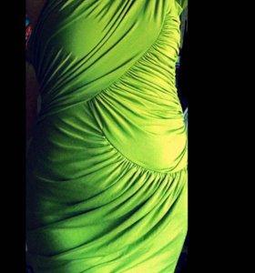 Forever Unique оливковое новое платье