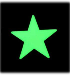 Светящиеся звёзды на потолок стены