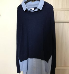 Рубашка сшитая с джемпером hm