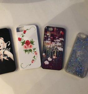 Чехлы на iPhone 5/5s (цена за все)