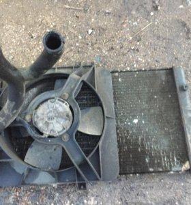 Радиатор ваз с вентилятором!2110-2111-2112
