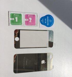 Зеркальные стекла на iPhone 5s
