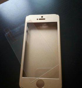 Чехол на iPhone 5s со стеклом