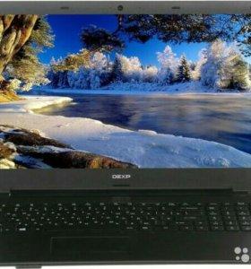 Современный Ноутбук dexp на 4-ех Ядрах