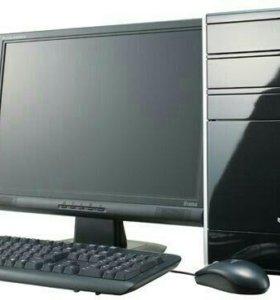 Компьютер 4 ядра, 3 гига, 160 хард, 1Гб 5750