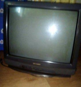 Телевизор рабочий с пультом!!!!!!!!