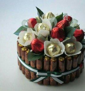 Подарки из конфет,сладостей