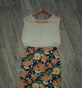 Комплект блуза + юбка