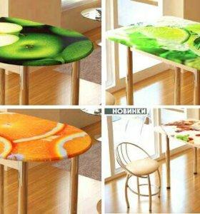 Новые обеденные столы мдф с фотопечатью