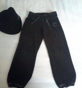 Вельветовые штаны 3-5лет