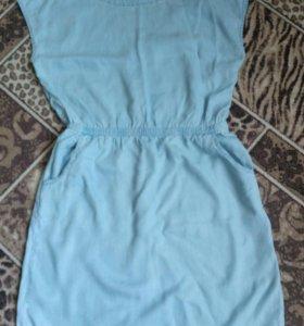 Новое молодежное джинсовое платье размер48