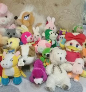 Мягкие игрушки 29 штук