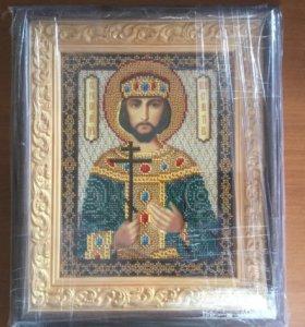 Продам икону вышитую бисером