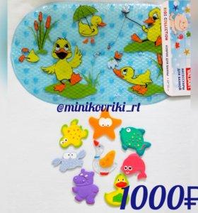 Большой коврик и набор мини-ковриков для ванной
