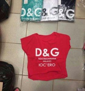 Новый топ футболка майка бренд dg женская