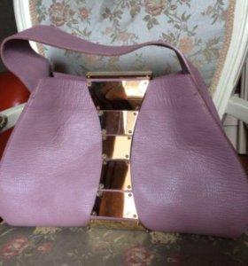 Дизайнерская сумка Lyalya кожаная