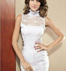 Платье белое мини новое!