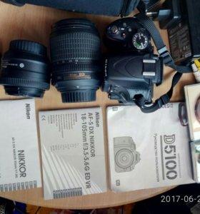 Фотоаппарат Nikon 5100+ 2 объектива Nikkor
