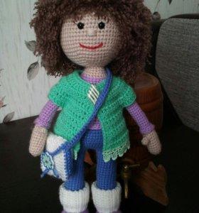 Кукла Стеша вязаная