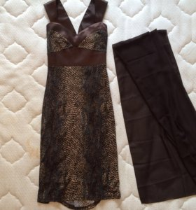 Новое, коричневое платье Jadore, с палантином