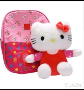 Рюкзачок Хеллоу Китти (Hello Kitty). Опт от 3шт