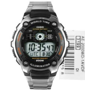 Новые часы Casio AE-200WD-1A.