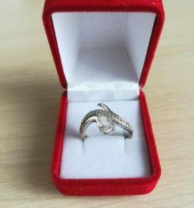 Новое серебряное кольцо с феонитами