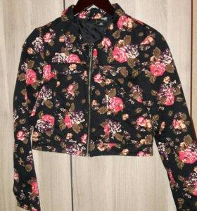 Джинсовая куртка короткая H&M
