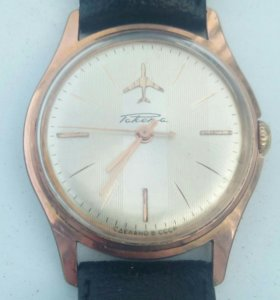 Часы Ракета СССР. Позолоченые