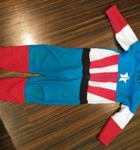 Пижама-костюм капитан Америка