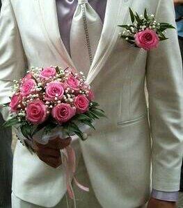 Мужской свадебный костюм + рубашка + галстук