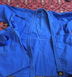 кимоно синее