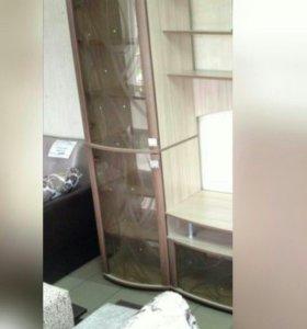 Пенал с 2я стеклянными дверками