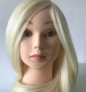 Голова с волосами для парикмахера для причесок