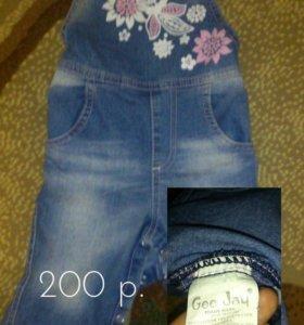 Комбинезон джинсовый 74 р.
