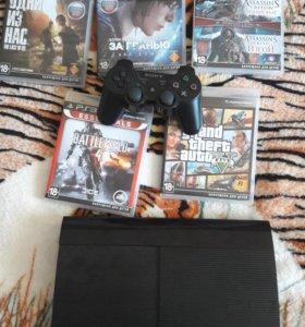 PS3 Super Slim 500Gb + игры