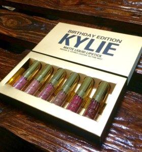 Kylie новый Набор 6 помад матовые жидкие