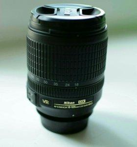 Nikon 18-105mm f/3.5-5.6G AF-S ED DX VR Nikkor.