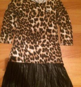 Леопардовое платье Oodji