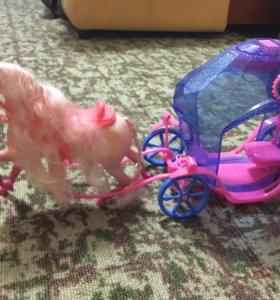 Карета и лошадка для детских игр