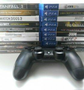 Диски и Dualshock 4 (PS4)
