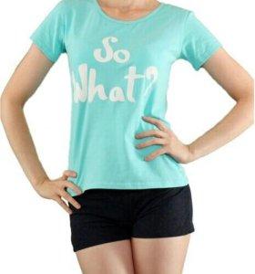 Новая футболка мятного цвета