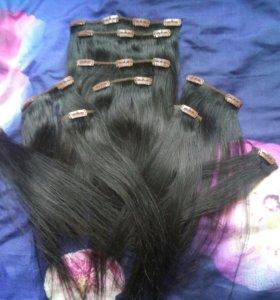 Натуральные волосы на заколках!