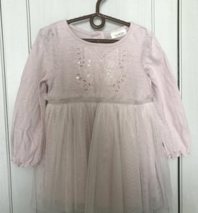 Платье next с бабочкой размер 68 74