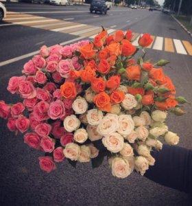 Цветы розы. Доставка!