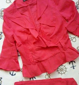 Льняная блузка 42р