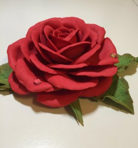 Брошки-зажимы, заколки, ободки и др. Цветы из фоам