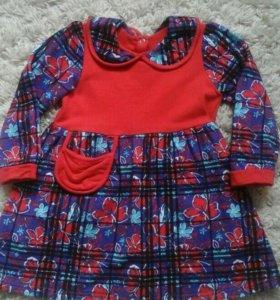 платье теплое для девочки