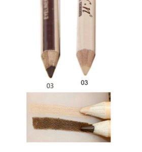 Карандаш-хайлайтер-консилер для бровей